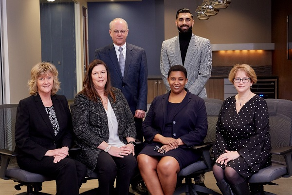 The new CLA Executive Team Top row (right to left): Saul Bercovitch and Tej Baath Bottom row (right to left): Linda Geery, Tricia Horan, Ona Dosunmu, Ellen Miller