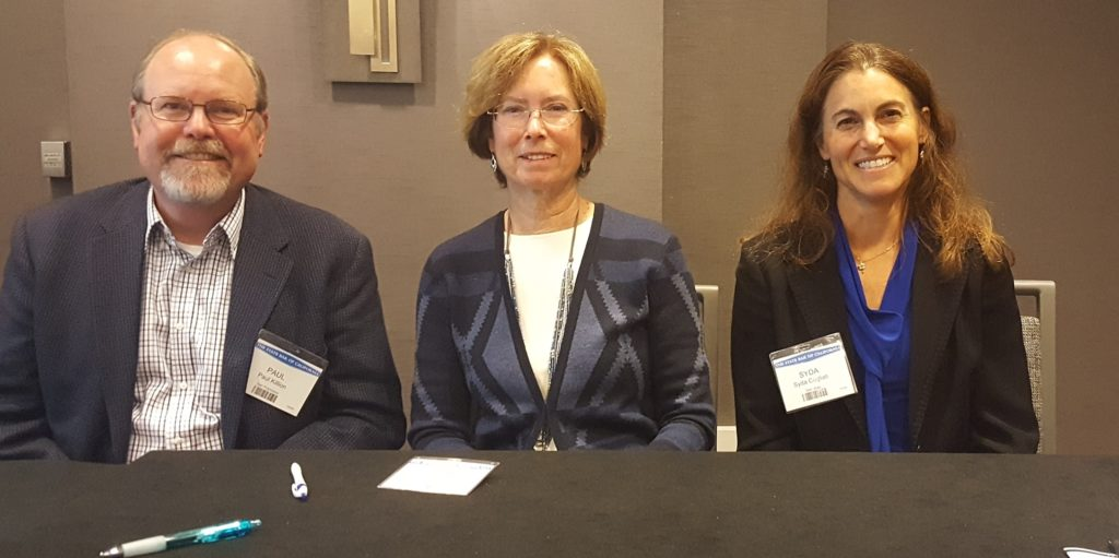 Hon. Kathleen M. Banke (Associate Justice, First Appellate District); Paul Killion (Certified Appellate Specialist, CAC Past Chair); and Hon. Syda K. Cogliati (2017: Senior Appellate Research Attorney, Sixth Appellate District; 2018: Elected Judge of Santa Cruz County Superior Court, former member CAC)