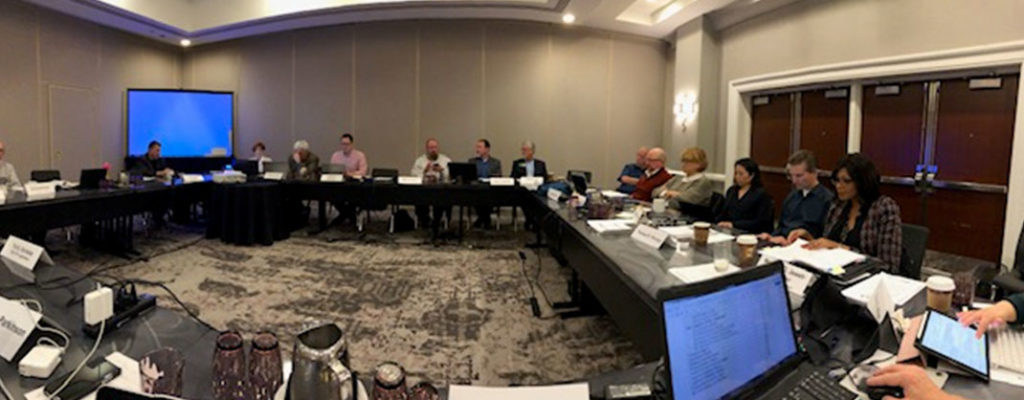 Image of members of the BLS Executive Committee discussing Section programming, publications, member services and legislative activity at the inaugural CLA Winter Leadership Retreat in San Francisco on February 2, 2019