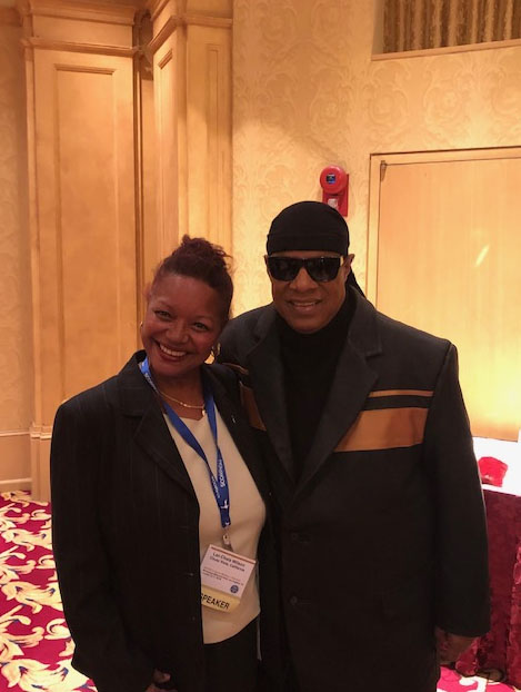 image of Lei-Chala Wilson and Stevie Wonder