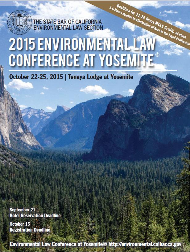 2015 Yosemite Conference Brochure Cover