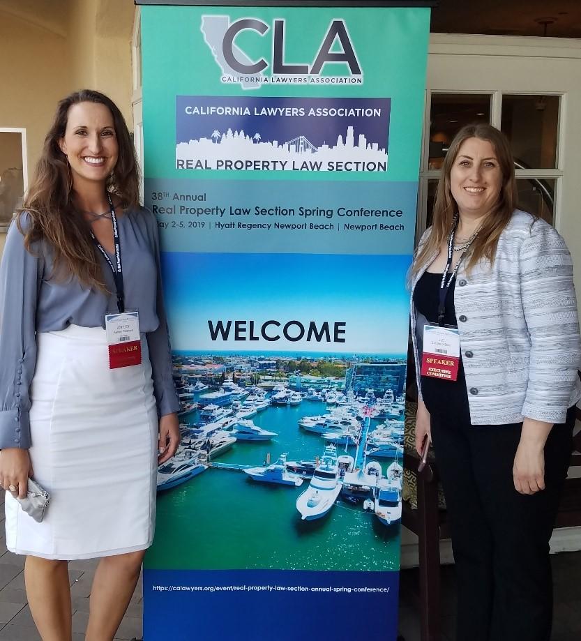 Spring Conference Organizers Ashley Peterson, Elizabeth Blair