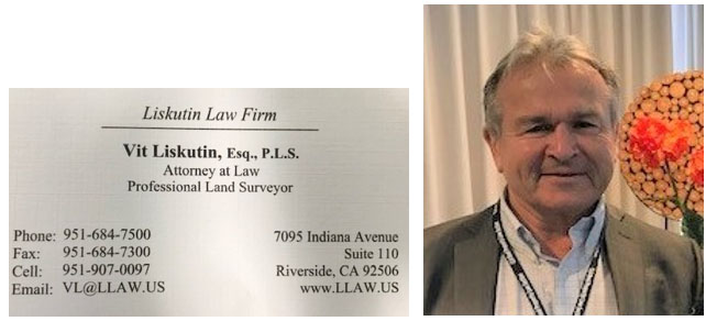 image of Liskutin and business card