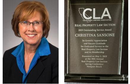 image of Christina Sansone and the award
