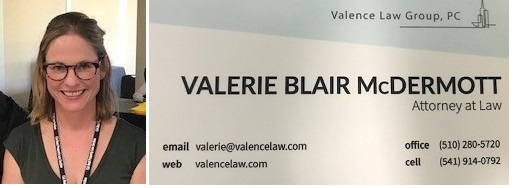 Valerie Blair McDermott and business card