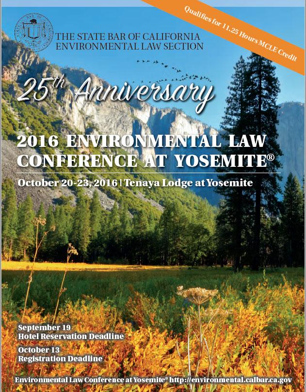 2016 Yosemite Conference Brochure Cover