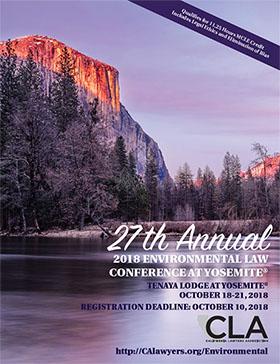 2018 Yosemite Conference Brochure Cover
