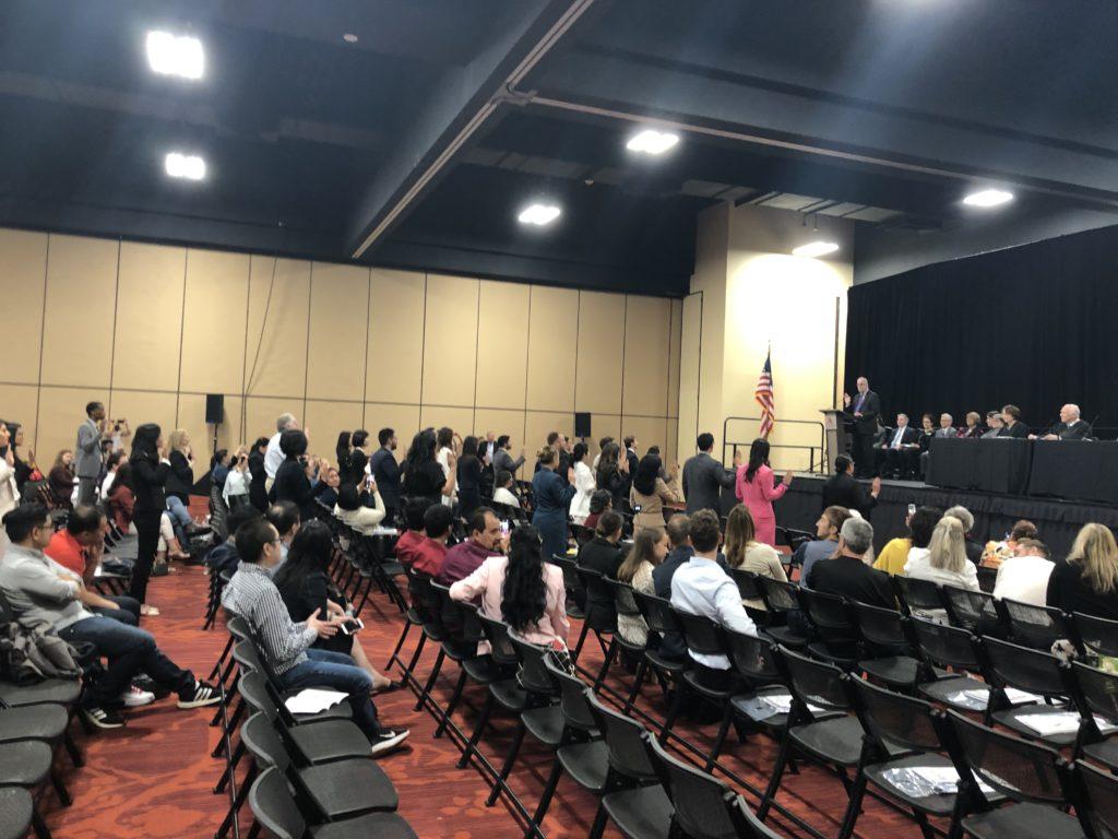 Oakland, CA: New members sworn in.