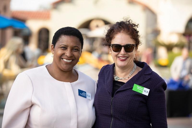 image of CLA Executive Director Ona Dosunmu and President Heather Rosing