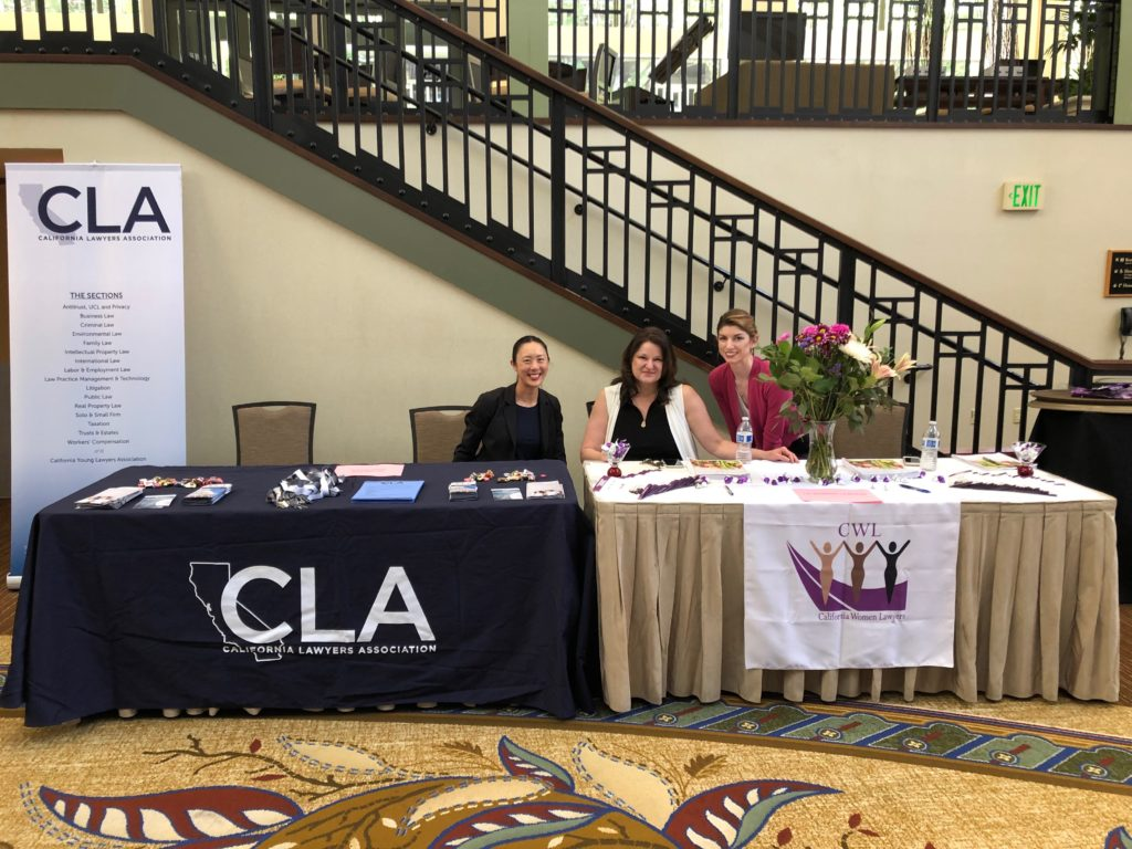 Sacramento, CA: CYLA member and CWL members greeting new attorneys