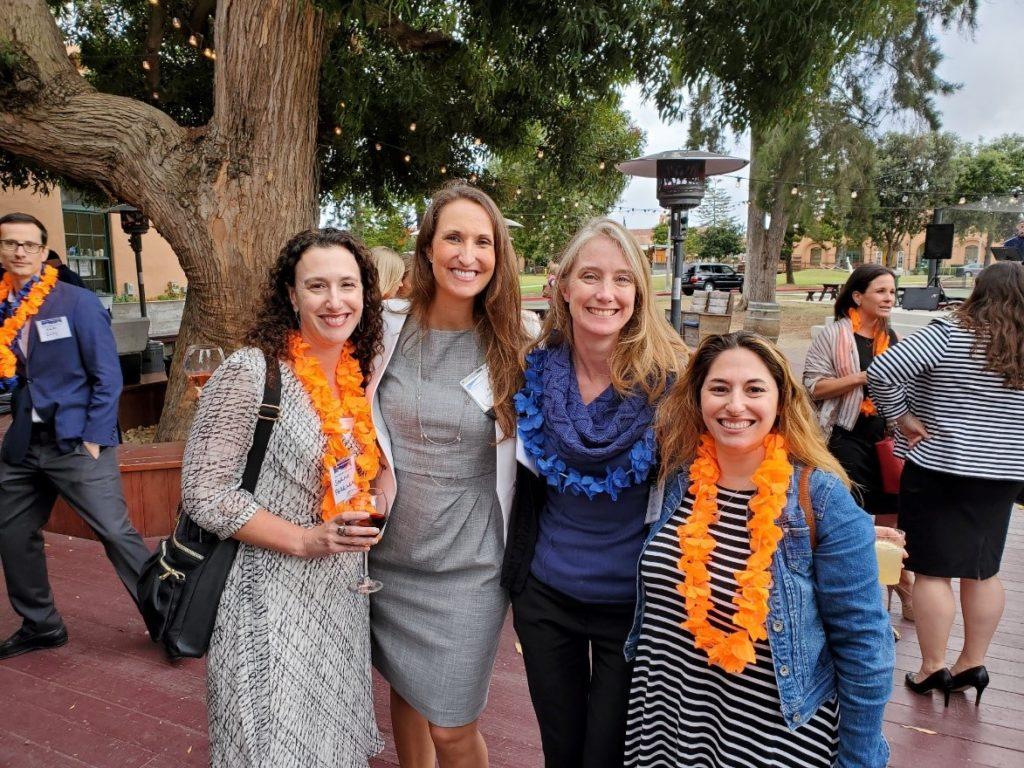 Sarah Ferrara, Ashley Peterson, Jennie Swanson, attendee.