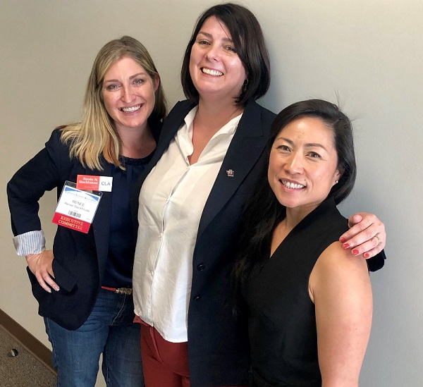 Renee N.G.Stackhouse, Solo and Small Firm Section Chair; Naomi Dewey, Santa Barbara Attorney and Speaker; and Soyeun D. Choi, Business Law Section Executive Committee Member
