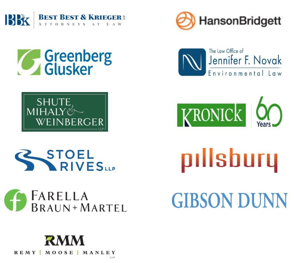 Thank you to our sponsors: Best, Best & Krieger; HansonBridgett; Greenberg Glusker; The Law Office of Jennifer F. Novak; Shute Mihaly & Weinberger; Kronick; Stoel Rives LLP; Pillsbury; Farella Bruan + Martel; Gibson Dunn; and Remy Moose Manley, LLP