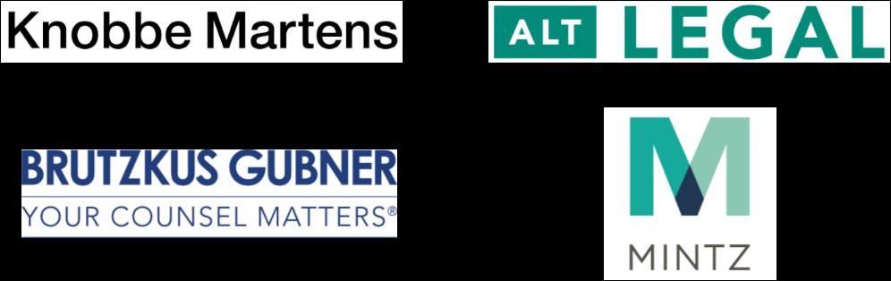 Bronze Sponsors: KnobbeMarten; Brutzkus Gubner; AltLegal; Mintz