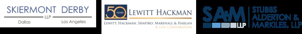 Event Sponsors: Skiermont Derby; Lewitt Hackman; Stubbs Alderton & Markiles, LLC