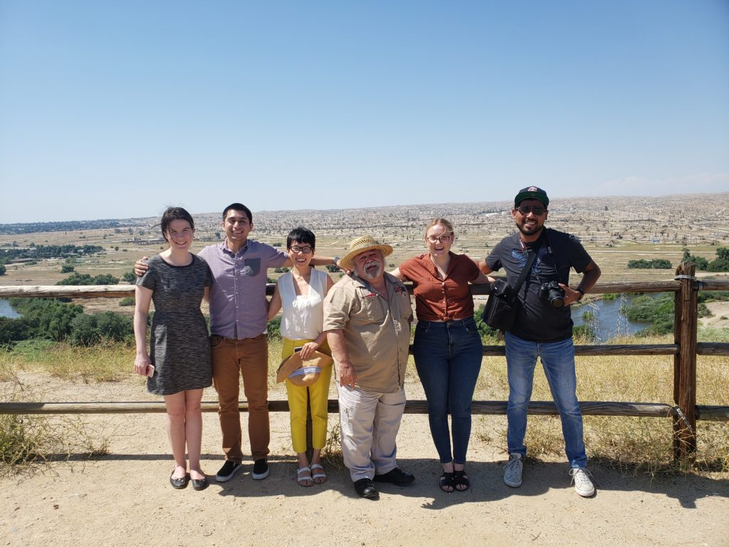 """Fellows with with members of CRPE's Delano office on a """"toxic tour"""" of Kern County"""