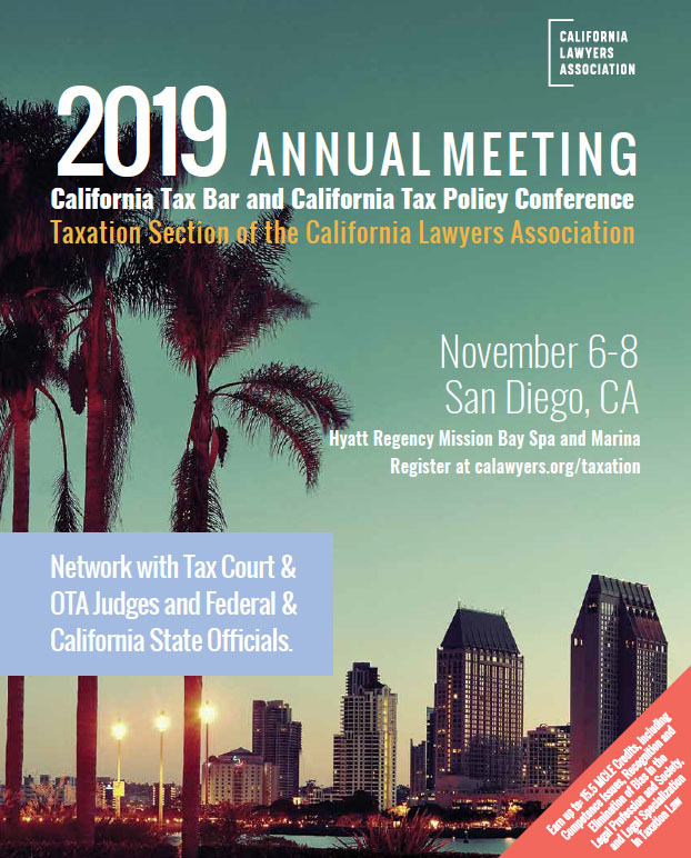 2019 Annual Tax Meeting – California Lawyers Association