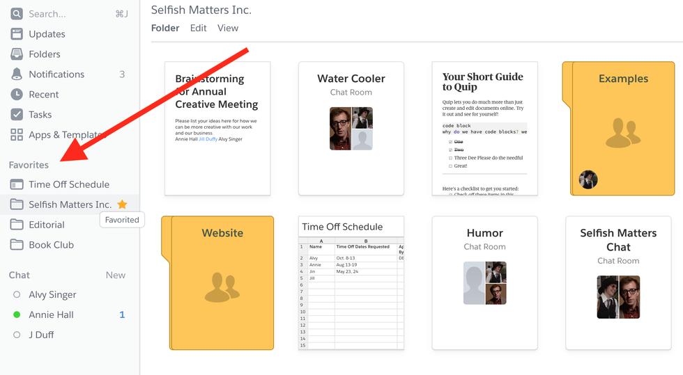 Folder example in online notebook