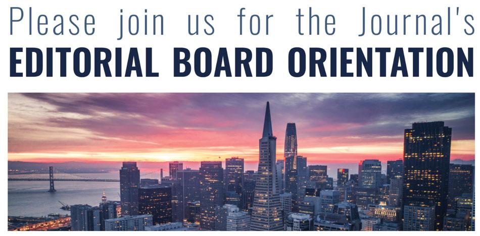 editorial board orientation graphic
