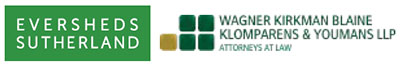 Eversheds Sutherland and Wagner Kirkman Blaine Klimparens & Youmans LLP logos