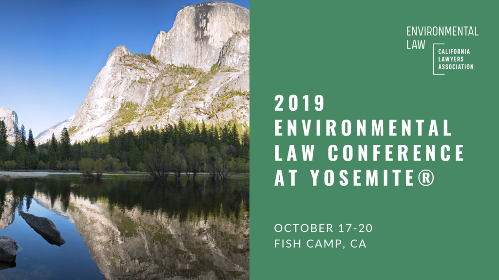 2019 Environmental Law Conference at Yosemite Banner