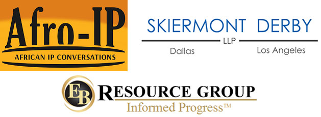 logos of Afro-IP, EB Resource Group, and Skiermont Derby LLP