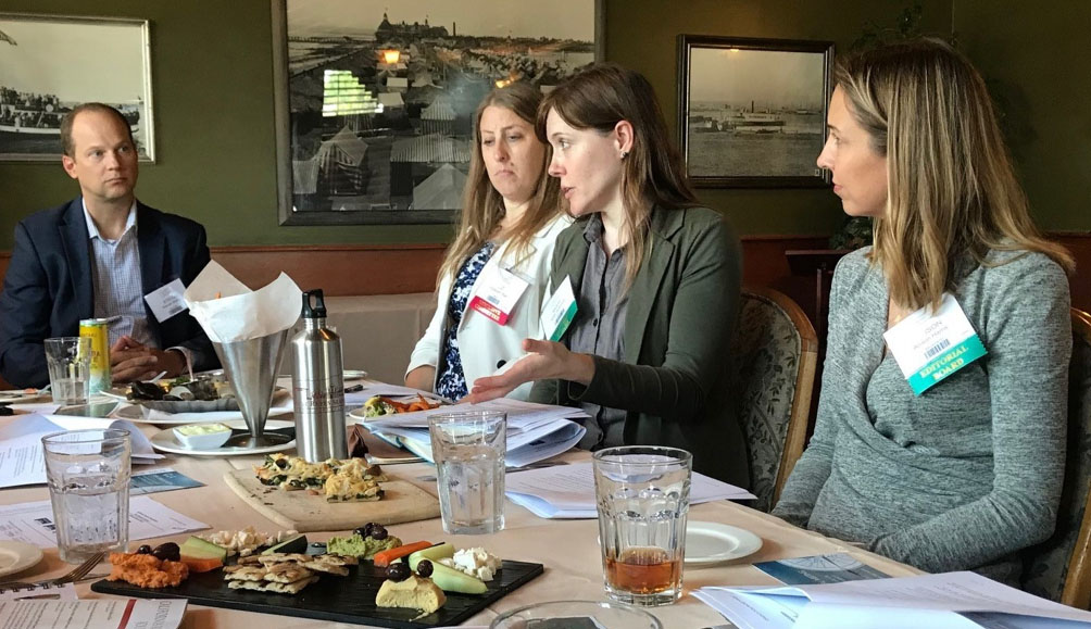 Journal Editor-In-Chief Misti Schmidt flanked by Managing Editor Allison Harris briefing a new talent pool of Real Property Journal Editors in San Diego, California.