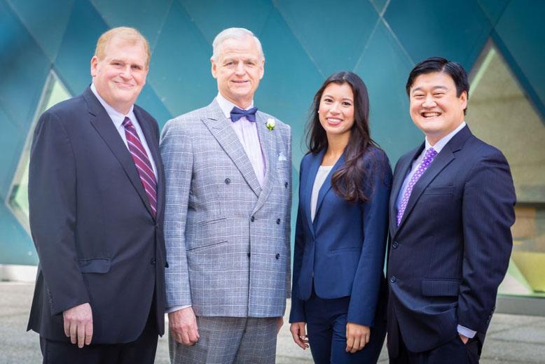 Jethro Busch, Steven A. MacDonald, CLA Excom Member Anna Liu, and Danny Wang