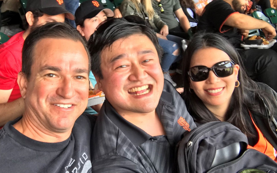 Danny Wang at the Giants game