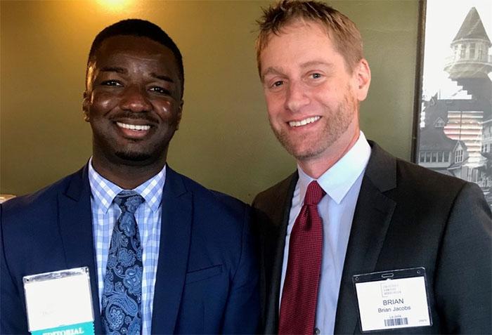 Law student Blake Sonuga, Brian Jacobs
