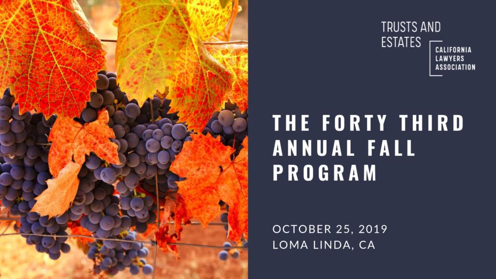 Program banner; The Forty Third Annual Fall Program