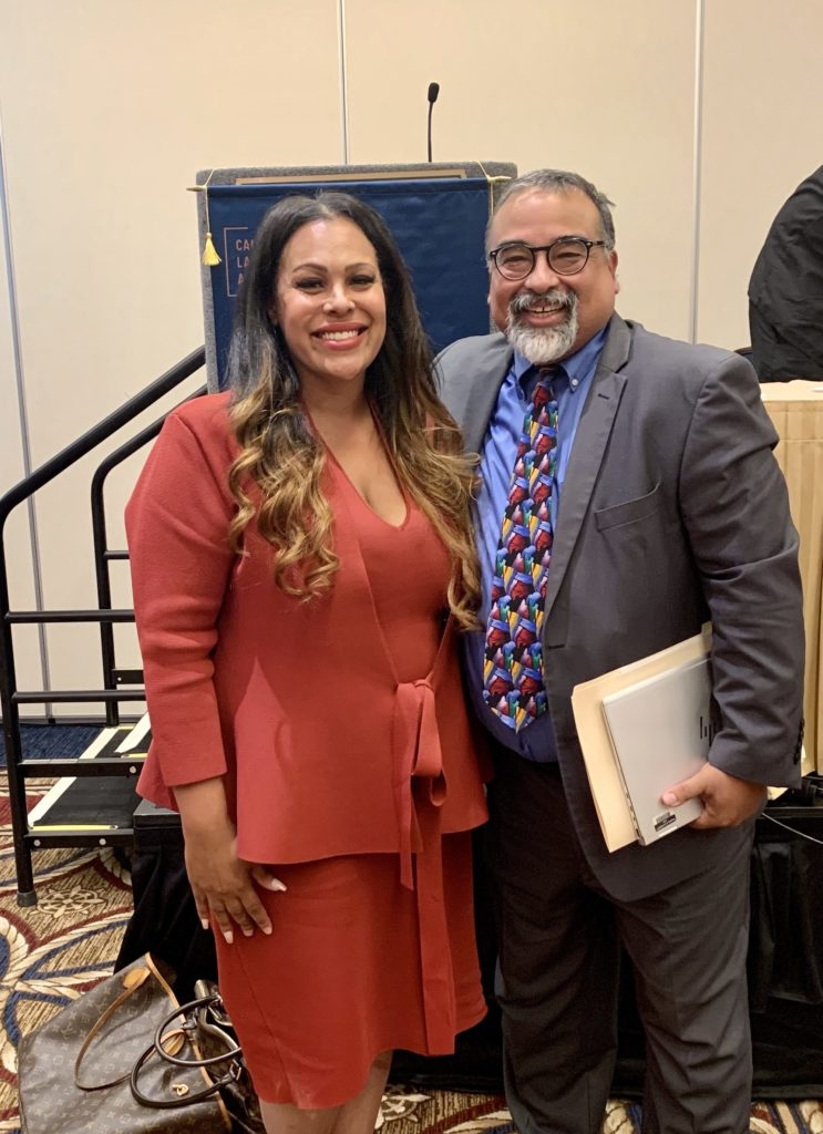Tamara Benefield, Family Law practitioner and Albert Camacho, Chair Criminal Law Section