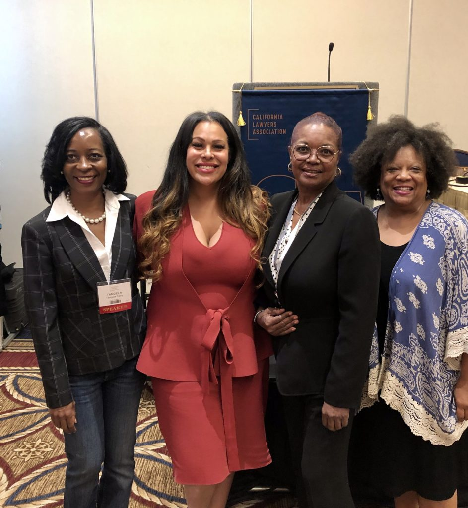 Criminal Law Section Executive Committee Members, Hon. Marguerite Downing, Lei-Chala Wilson and Tangela Terry thank Ms. Benefield for participating on the panel