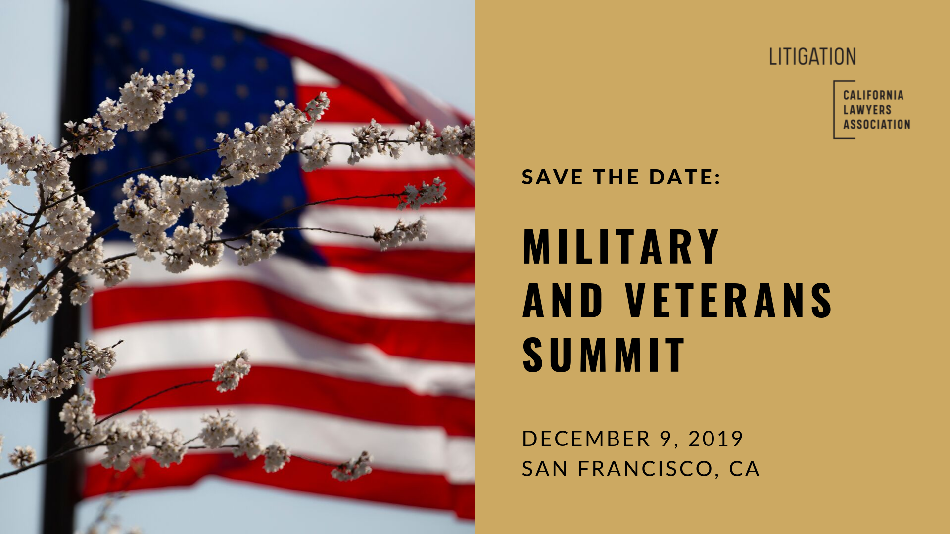 Save the Date BAnner for the Military and Veterans Summit