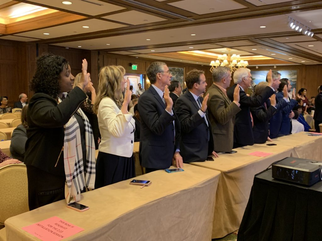 Swearing in ceremony at the Annual Meeting