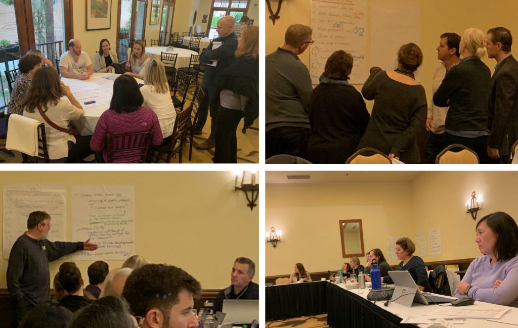 photo collage of ELS Executive Committee planning the next Yosemite conference