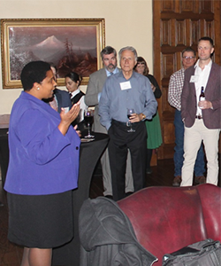 CEO and Executive Director of the California Lawyers Association Ona Dosunmu addressing the group.
