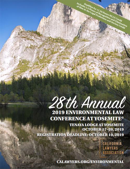 2019 Yosemite Conference Brochure Cover