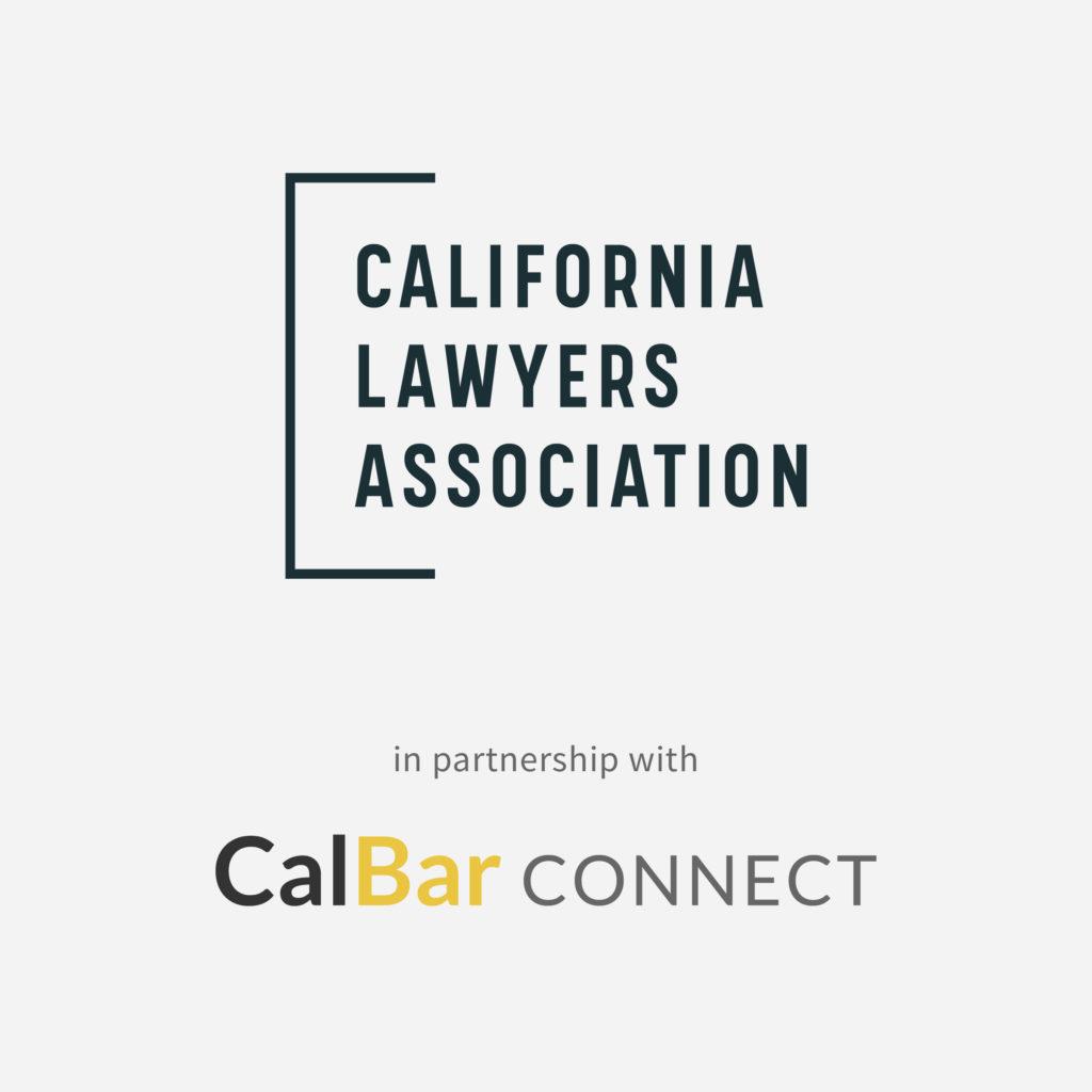 CLA logo lockup with CalBar Connect logo