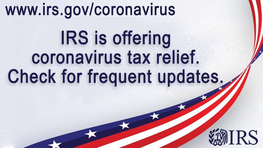 IRS is offering coronavirus tax relief. Check for frequent updates.