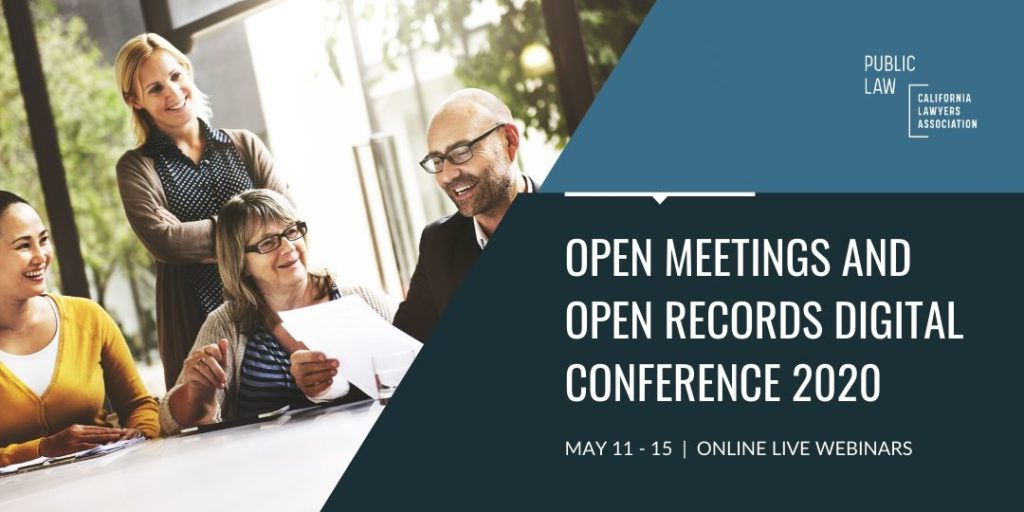 Open Meetings and Open Records Digital Conference is May 11-15. Join us!