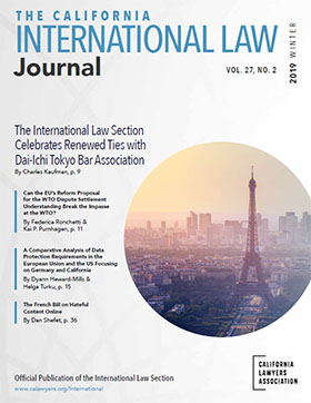 image of International Law Journal cover