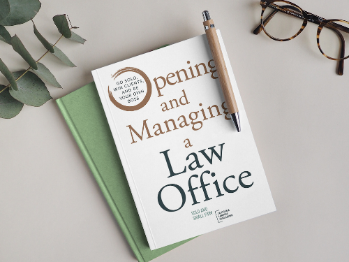 Opening and Managing a Law Office book