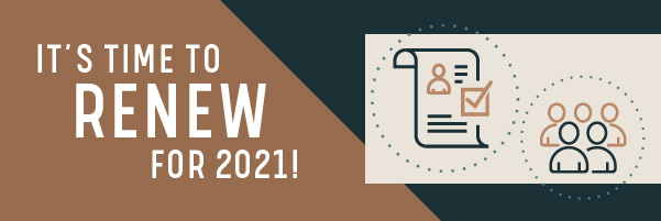 It's time to renew for 2021!
