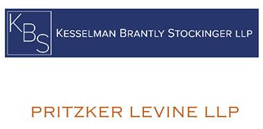 Logos for Kesselman Brantly Stockinger LLP and Pritzker Levine LLP