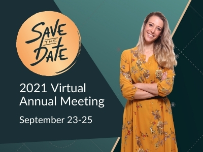 Image reads: Save the date for the 2021 Virtual Annual Meeting September 23-25