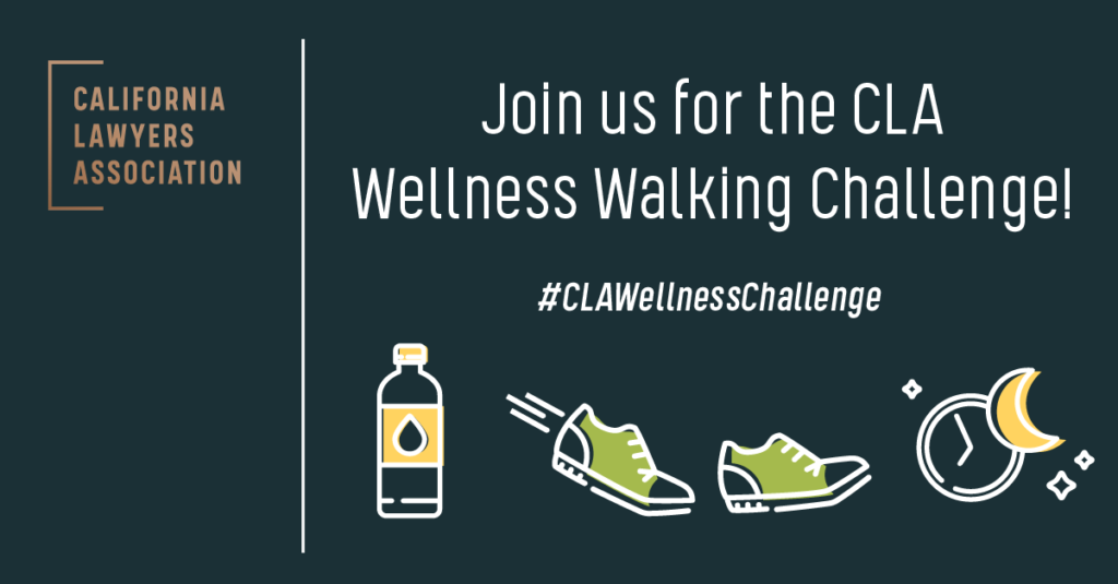 Image reads: Join us for the CLA Wellness Walking Challenge! #CLAWellnessChallenge