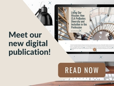 Image reads: Meet our new digital publication! Read now