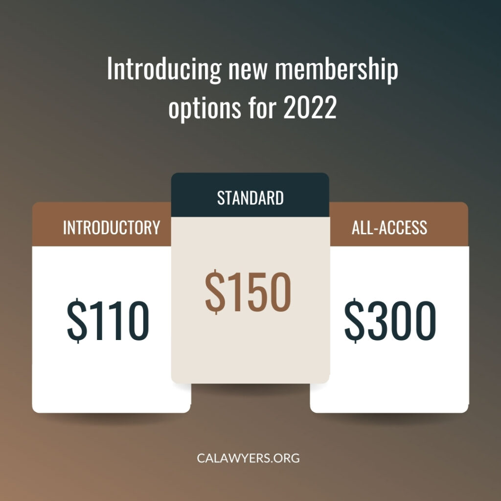 Image reads: introducing new membership options for 2022