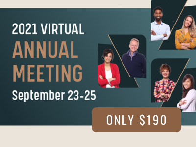 annual meeting, September 23-25, only $190